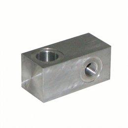 Blocco in alluminio valvola...
